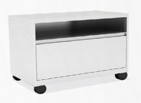 Top Open / Bottom Drawer Lateral File With Casters By Office Source