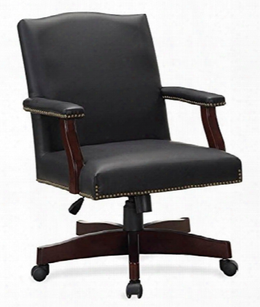 Traditional Leather Executive Swivel Chair By Solution Seating
