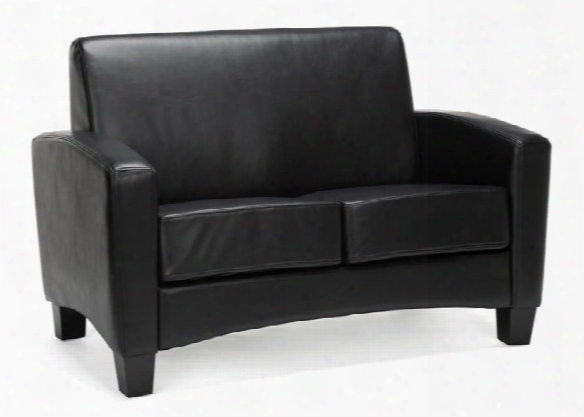 Traditional Leather Loveseat By Essentialls