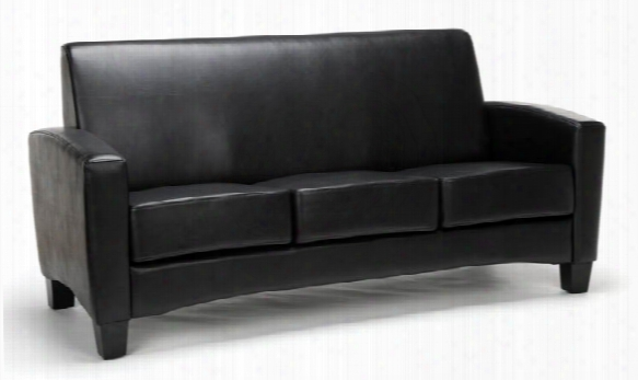 Traditional Leather Sofa By Essentials