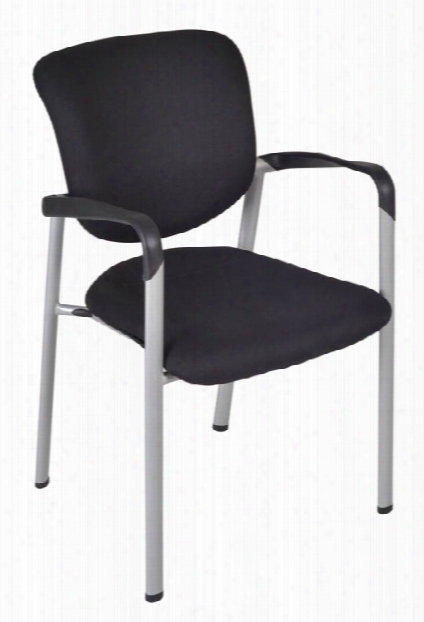 Ultimate Side Chair With Arms- Black By Regency Furrniture