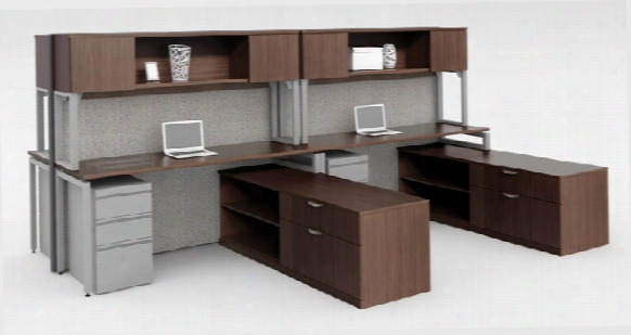Workstation For 4 With Storage By Office Source