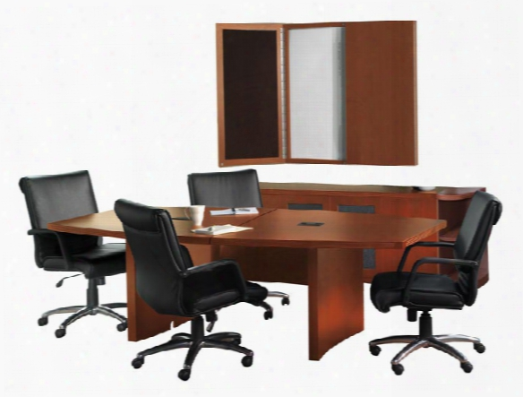 10' Boat Shaped Conference Table Suite By Mayline Office Furniture