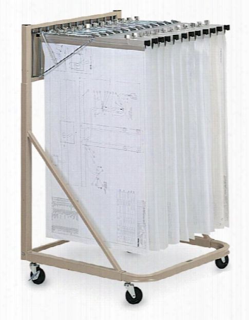 "18"" Vertical File Rolling Stand By Mayline Office Furniture"