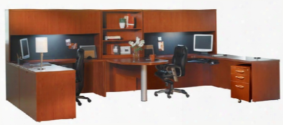 2 Person Workstation By Mayline Office Furniture