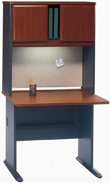 "36"" Desk With Hutch By Bush"