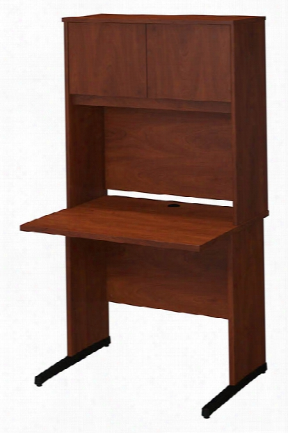 "36""w X 30""d C-leg Desk With Hutch By Bush"