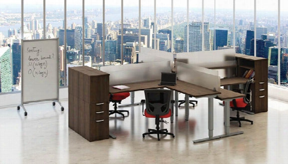 4 Person Standup Workstations By Office Source