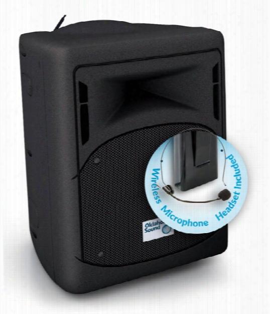 40 Watt Wireless Pa System W/ Wireless Headset Mic By Oklahoma Sound