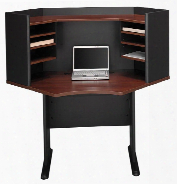 "42"" Modular Corner Desk With Hutch By Bush"