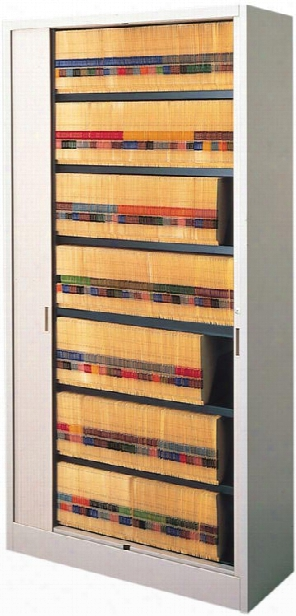 "42""w Seven Tier File Harbor Cabinet By Mayline Office Furniture"