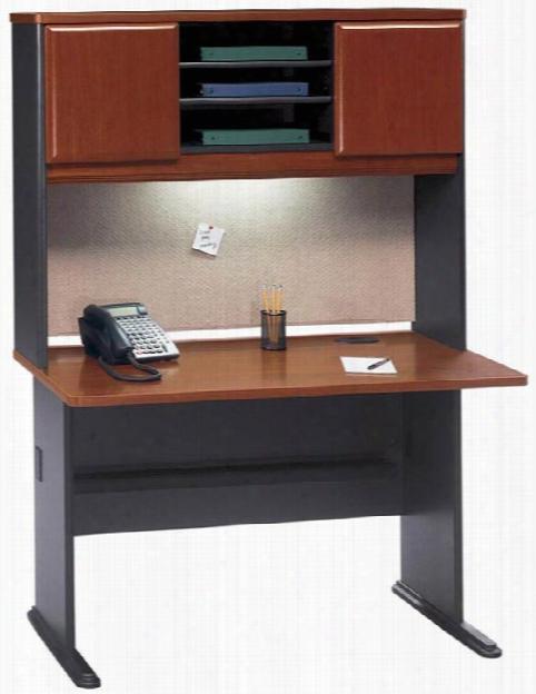 "48"" Desk With Hutch By Bush"
