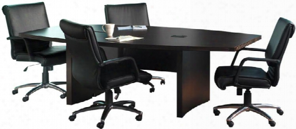 6' Aberdeen Boat Shaped Conference Table By Mayline Office Furniture
