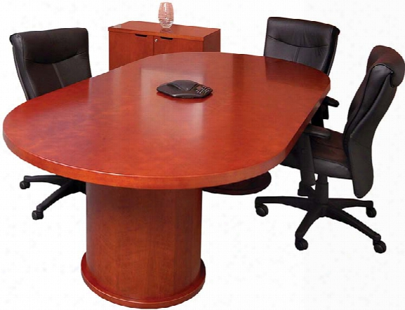 6' Racetrack Conference Table By  Mayline Office Furniture