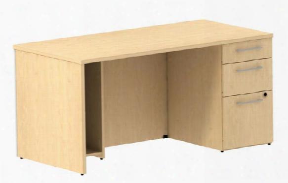 """60"""" Single Pedestal Desk By Bush"""