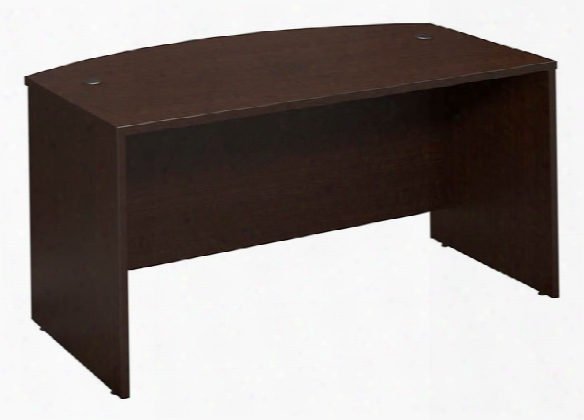 """60""""w X 36""""d Bow Front Desk Shell By Bush"""