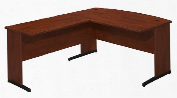 "60""w X 36""d C Leg Bowfront Desk With 42""w Return By Bush"