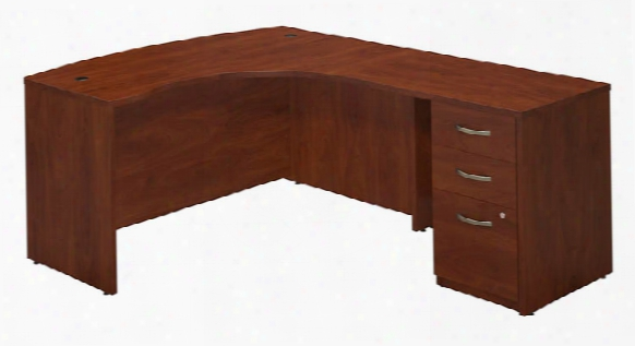 """60""""w X 43""""d Right Hand L-desk With Return And 3 Drawer Pedestal By Bush"""