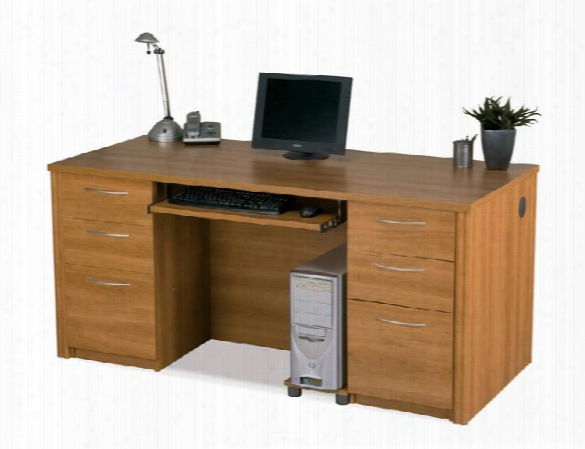 "66"" Double Pedestal Executive Desk 60850 By Bestar"