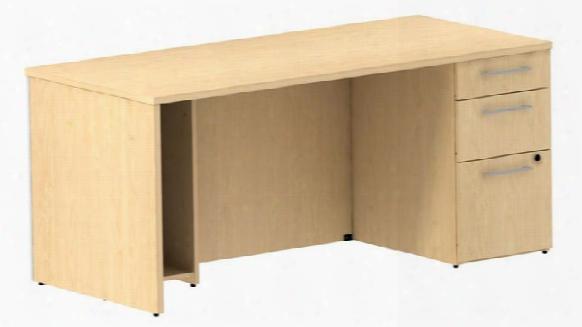 """66"""" Single Pedestal Desk By Bush"""
