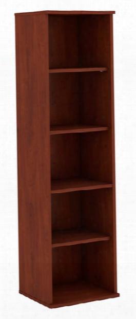 """66""""h Five Shelf Narrow Bookcase By Bush"""