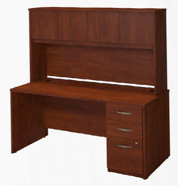 """66""""w X 30""""d Desk Shell With Storage By Bush"""
