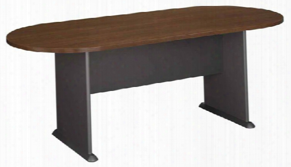 7' Racetrack Conference Table By Bush