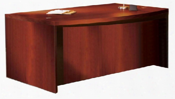 "72"" Bow Front Double Pedestal Desk By Mayline Office Furniture"