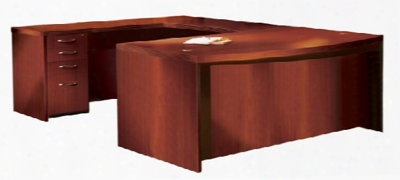 """72"""" Bow Front U Shaped Desk By Mayline Office Furniture"""