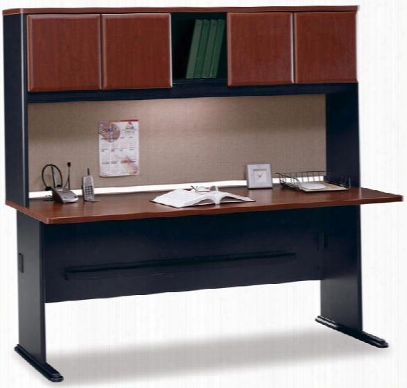 "72"" Desk With Hutch By Bush"