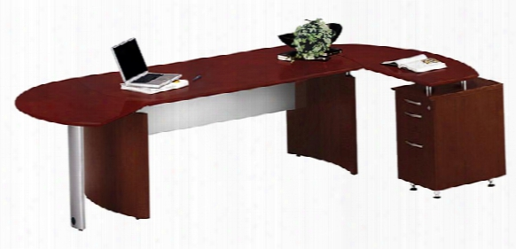 "72"" Desk With Return And Extension By Mayline Office Furniture"