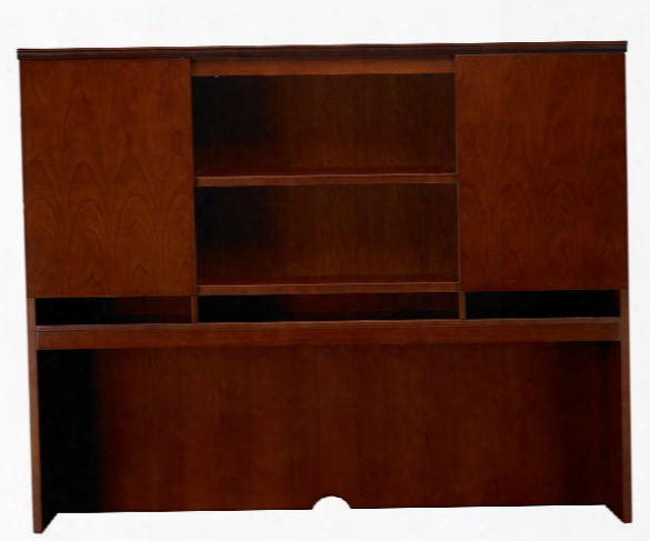 "72"" Double Height Door Hutch By Mayline Office Furniture"