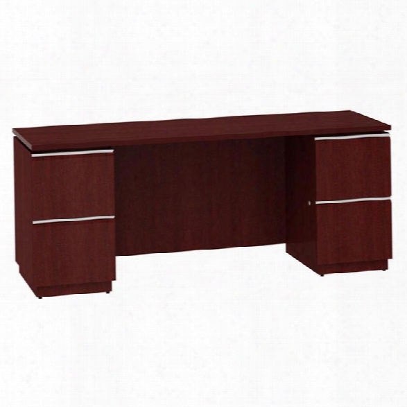 "72"" Double Peestal Kneespace Credenza By Bush"