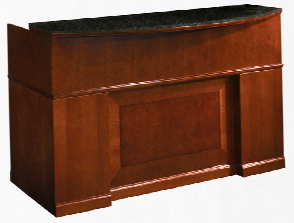 "72"" Reception Desk With Granite Counter By Mayline Office Furniture"