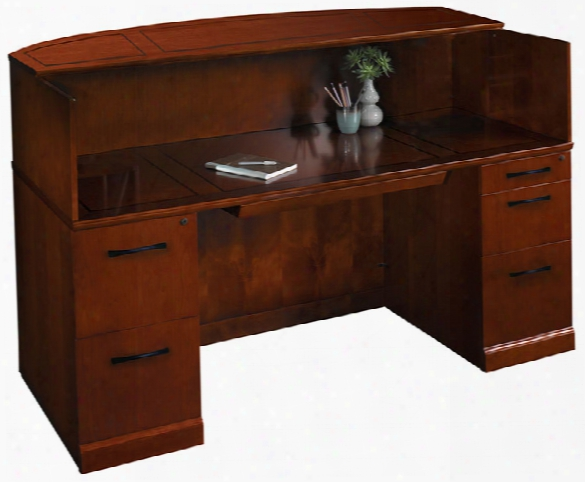 "72"" Reception Desk With Veneer Counter By Mayline Office Furniture"