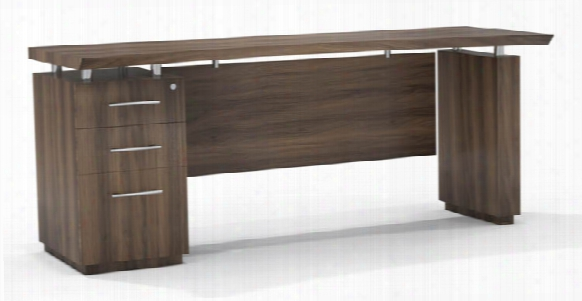 """72"""" Single Pedestal Credenza By Mayline Office Furniture"""