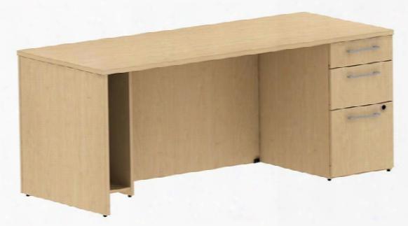 """72"""" Single Pedestal Desk By Bush"""