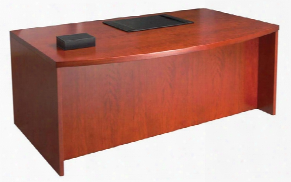 """72"""" Wood Veneer Bow Front Desk Shell By Mayline Office Furniture"""