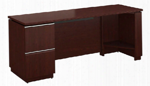 "72"" X 24"" Single Pedestal Credenza By Bush"
