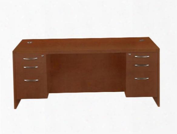 "72"" X 30"" Double Pedestal Desk By Mayline Office Furniture"