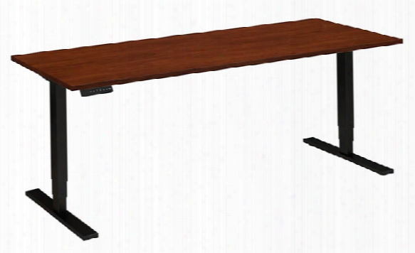 "72""w X 30""d Height Adjustale Desk By Bush"
