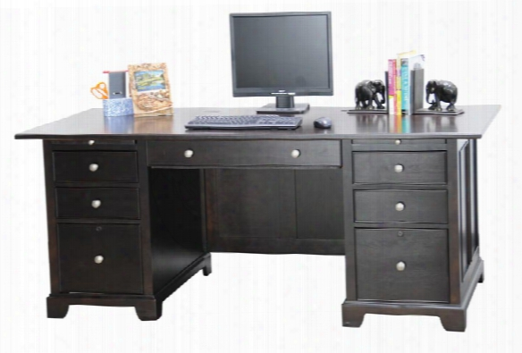 "72""w X 36""d X 30""h Executive Desk By Wilshire Furniture"