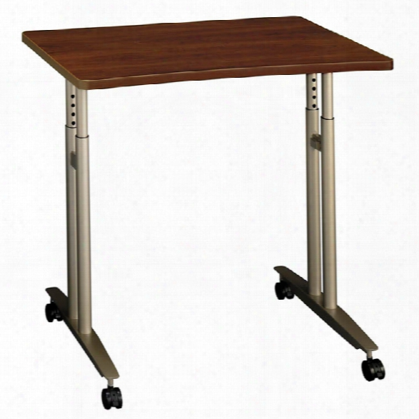 Adjustable Height Mobile Table By Bush