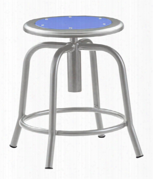 Adjustable Height Stool With Metal Seat By National Public Seating