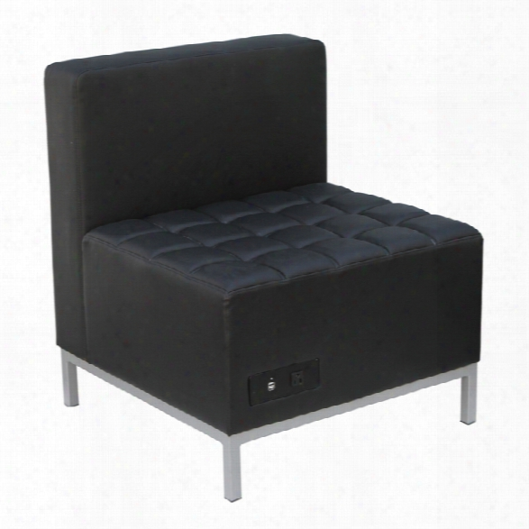 Armless Chair With Power Module By Office Source