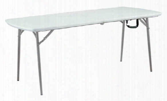 """Blow Molded Plastic Fold In Half Table 30"""" X 72"""" By National Public Seating"""