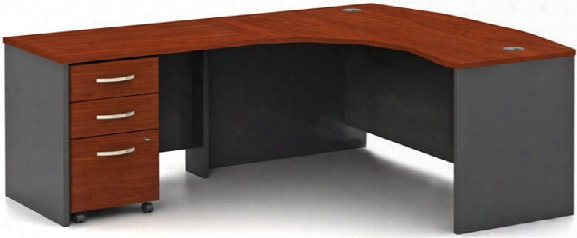 Bow Front L Shaped Desk By Bush