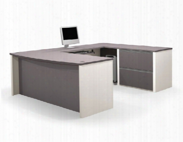 Bow Front U Shaped Desk 93865 By Bestar