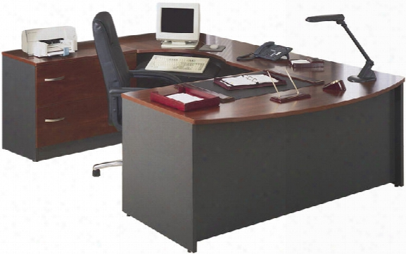 Bow Front U Shaped Desk By Bush