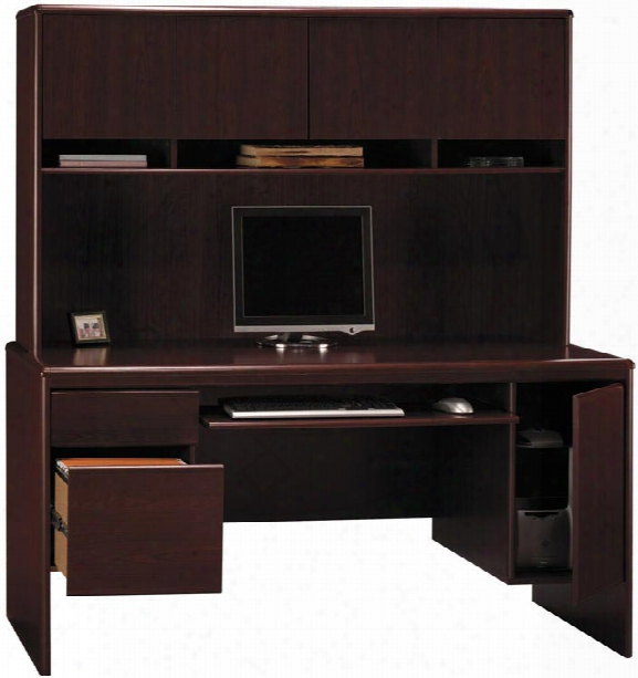 Computer Credenza With Hutch By Bush